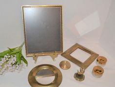 Byron Center, Vintage Closet, Vintage Baskets, Vintage Butterfly, Glass Jars, Solid Brass, Mirrors, Compact, Dresser