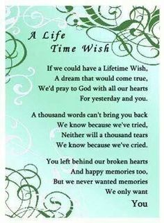 Time wish, doesn't everyone have this wish when they lose someone they love so much. AMC