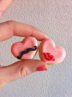 Mini Sir and Ma'am heart COokies <3<3