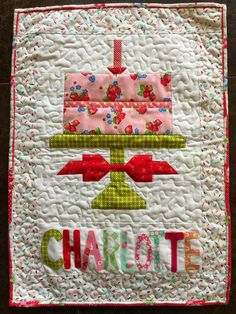 Quilty Fun Birthday Cake Banner And Tablerunner Cool Cakes Quilting Tips