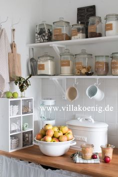 Baking Center in a Farmhouse Kitchen - via Villa Koenig