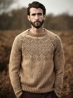 Shire pattern by Lisa Richardson, from A/W 2015 pattern booklet for Rowan Hemp Tweed. Sweater Knitting Patterns, Baby Knitting, Knitting Designs, Mens Knit Sweater Pattern, Look Fashion, Mens Fashion, Rowan Yarn, How To Purl Knit, Fair Isle Knitting