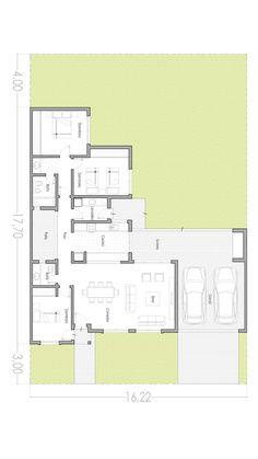 Minimalist House Design, Minimalist Home, Modern House Design, Plan Design, Layout Design, Small Villa, Craftsman Floor Plans, Conceptual Architecture, Modern House Plans