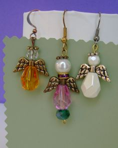 Christmas Angel Earrings. DISCOUNT. Gold or by MyGrandmasHome