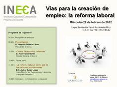 Vías para la creación de empleo: la reforma laboral. Alicante