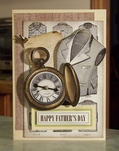 Father's Day Card using Anna Griffin Kit Cards for Him Too
