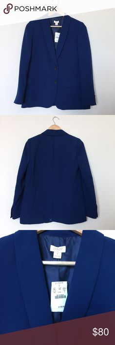 J.Crew Factory Blazer 👇PLZ READ THE COMPLETE DESCRIPTION BEFORE COMMENTING! Thank u!👇  Size: 4 Retail: $148  Color may be slightly  different bcz of lighting 🍀Price is FIRM!🍀 ❌Trades ❌Holds All sales r final Welcome product-related questions! Ur responsible for ur size. J. Crew Jackets & Coats Blazers