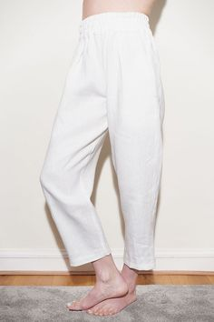 4311a740ebc Nothing says summer like a crisp pair of white linen pants! Yet who wants  to wear pants when it s hot