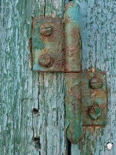 Blue-green hinges