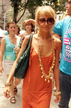 nicole richie looks rough but I like the jewels and color of her dress
