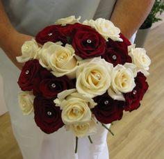Cream & Red Rose Bouquet.... Bride's Bouquet   #DBBridalstyle