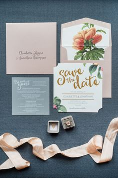 Whimsical Floral Save-the-Dates
