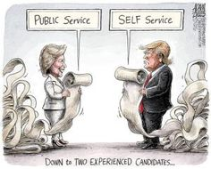 A roundup of funny and provocative cartoons about Donald Trump and his presidential campaign.: Experienced Candidates