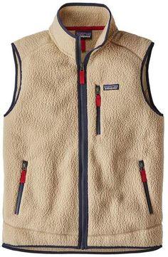 Beige retro Pile Vest model sweater of the Patagonia brand. Vest type with zip closure. Mens Fleece, Fleece Vest, Fleece Jackets, Chaleco Casual, Retro, Patagonia, Menswear, Mens Fashion, Gothic Fashion