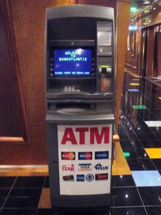 Avoid $5 ATM fees by sitting down at a slot machine, and then cashing out with the cashier. Your room will be charged, minus the $5 fee.
