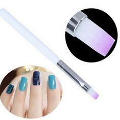 2 ADET Nail Art Fırça Builder UV Jel Çizim Boyama Fırça kalem Manikür Aracı Ggradient Için Mor Renk için fırçalar tırnak tasarım