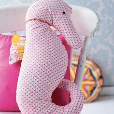 Seahorse Cushion and Hanging Decoration