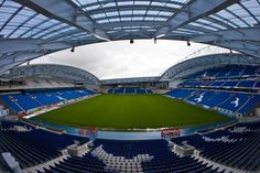 #EXTRASEATS Your bonus pic today is a fisheye view of the interior, showing the South and East Stands #BHAFC