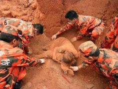 A mother's love ... she made the ultimate sacrifice and saved her baby  son <3