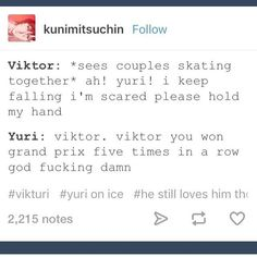 Oh god! Viktor would totally do that.  Yuuri ain't taking none of your shit Viktor.....