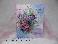 скрапбукинг и не только.....: открытка--фиолетовая акварель
