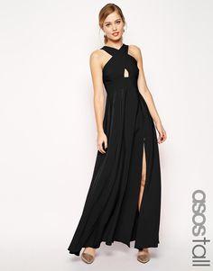 Image 1 ofASOS TALL Cross Front Super Full Maxi Dress