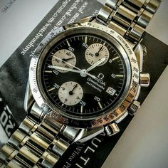 #panda dial #omega #speedmaster #sold to #collector in #harsensisland #michigan - more #watchforsale at www.watchvaultnyc.com #watchporn.