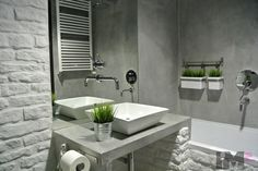 concrete in the bathroom Concrete Bathroom, My Dream Home, Sink, Bathtub, Loft, Mirror, House, Design, Home Decor