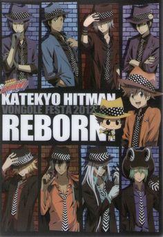 KHR cast in fedora & suit - Vongola Class Hitman Reborn, Reborn Katekyo Hitman, Manga Boy, Manga Anime, Reborn Anime, Solo Pics, Comic Page, Anime Shows, Me Me Me Anime