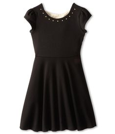 Us Angels Cap Sleeve Bow Back Dress w/ Full Skirt (Big Kids) $59 with detailed description and size chart