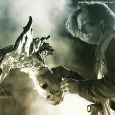 Terminated! FX artist and on-set puppeteer John Rosengrant touches up T-1000 puppet aka the Pretzel Man on the steel mill set of Terminator 2.  #t2 #terminator #judgmentday #t1000 #liquidmetal #stanwinstonstudio #behindthescenes #practicaleffects #specialeffects #hollywood #moviemagic