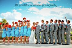 Fun with a large wedding party