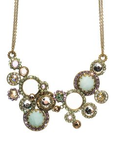 Multi Circle Bib Necklace in Sweet Dreams by Sorrelli