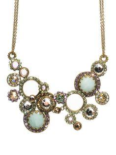 Multi Circle Bib Necklace in Sweet Dreams by Sorrelli