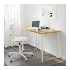 LINNMON / ADILS Table - birch effect/white - IKEA