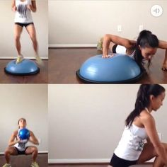 Clean Eating & Flexible Dieting (IIFYM): HIIT workout, at home workout, cardio, tabata, BOSU ball.  Video & info on Instagram.