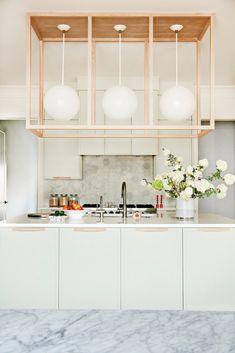 sculptural kitchen lighting