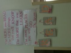 Dr. Seuss quote- great for reading center