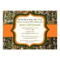 Printable rustic woodland camo baby shower invitation baby hunting camo baby boy shower invitation filmwisefo Gallery