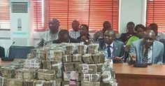 See Bundles of Naira Notes Recovered by Police from INEC Officials Bribed During Rivers Elections (Photos)