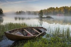 Morning mist at the lake by Robin Eriksson on 500px