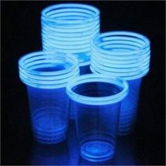 Glow stick wrap drinking glasses for outside evening parties!