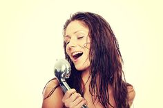 Woman singing in the shower while others in the house are trying to sleep.
