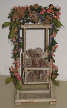 miniature wooden swing!