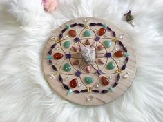 Excited to share the latest addition to my #etsy shop: 20cm Marriage Longevity Complete Set of Crystal Grid