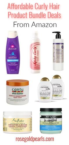 Drugstore curly hair products you can buy on amazon. Amazon has amazing cheap bundle deals for your favorite curly hair products that will save you tons of money. Buy all of your favorite cheap curly hair products in bulk on Amazon to save money stick to your budget and stock up on all your natural hair care needs!