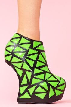 Green Heeless Shoes