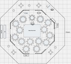 floor plan of rounds including a sweetheart table near the dance floor wedding reception