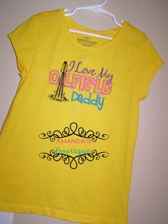 I Love My Oilfield Daddy Embroidered Shirt by AYBoutique on Etsy, $22.00
