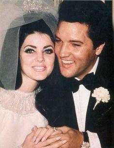 Elvis with his beautiful wife Priscilla.